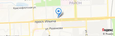 Арт-Неон на карте Донецка