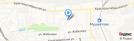 Ветеран на карте Донецка