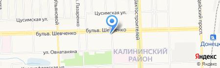 Вика на карте Донецка