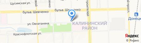 ДОНЕЦКСТРОЙ на карте Донецка