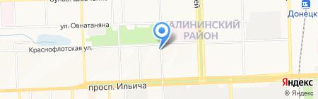 Bonjuor на карте Донецка