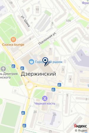 ПАРИКМАХЕРСКАЯ на карте Дзержинского