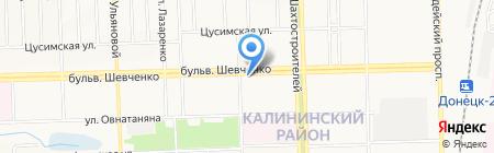 Банкомат КБ Надра ПАО на карте Донецка