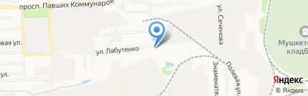 Углеснаб на карте Донецка