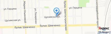 Водомир на карте Донецка