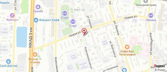 Карта расположения пункта доставки Lamoda/Pick-up в городе Реутов
