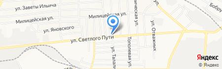 Виолетта на карте Донецка