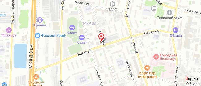 Карта расположения пункта доставки Реутов Новая в городе Реутов