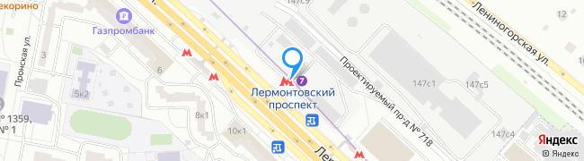 метро Лермонтовский проспект