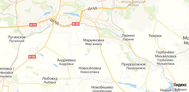 Марьяновка на карте