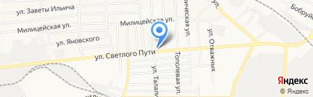 Оазис на карте Донецка