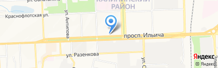 Обувь счастливого детства на карте Донецка