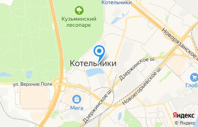 Местоположение на карте пункта техосмотра по адресу Московская обл, г Котельники, тер Новорязанское шоссе, д 5В