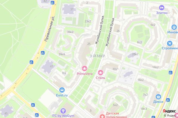 Ремонт телевизоров Жулебинский бульвар на яндекс карте