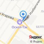 Москвич на карте Старого Оскола