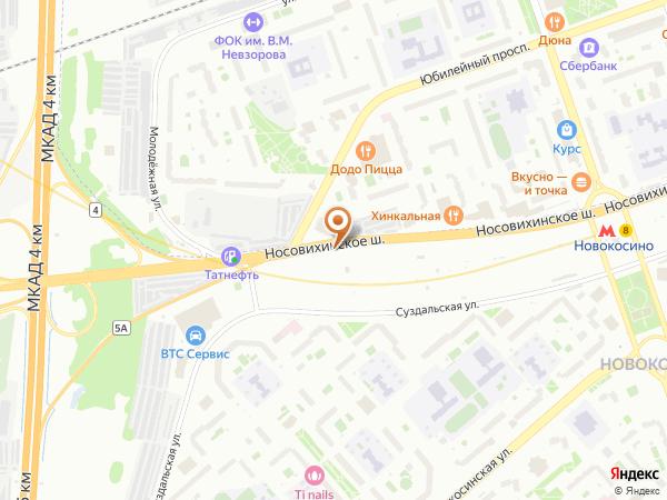 Остановка Юбилейный просп. в Москве