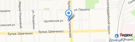 Каприз на карте Донецка