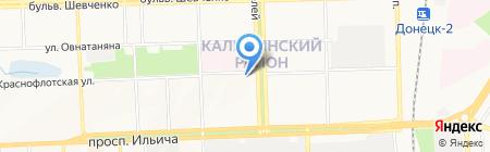 А-Мега на карте Донецка