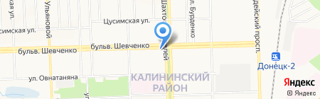 Идеал-Оптика на карте Донецка