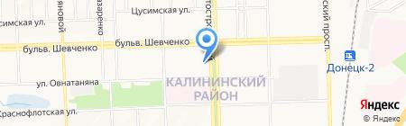 Техносервис на карте Донецка