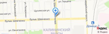 Электросвет на карте Донецка