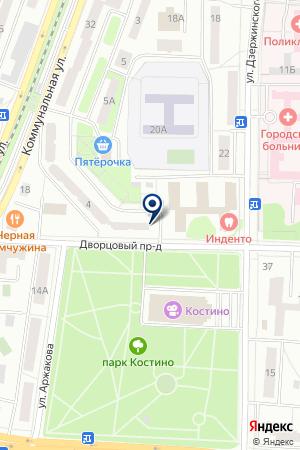 СТРОИТЕЛЬНАЯ ФИРМА ДИАМАНТ на карте Королева