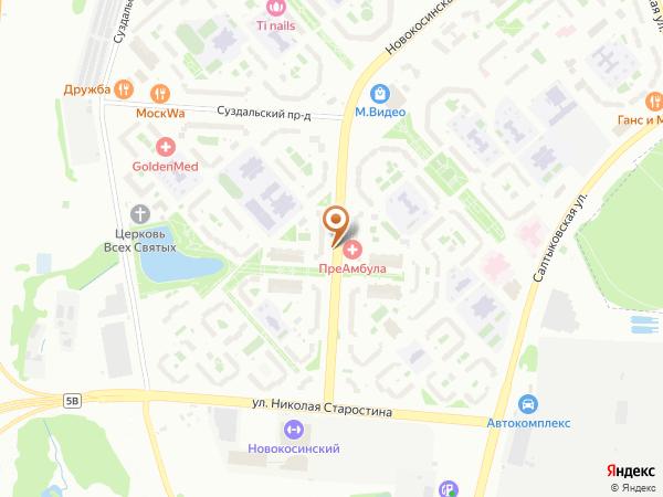 Остановка Новокосинская ул., 10 в Москве