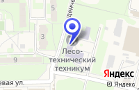 Схема проезда до компании ОБЩЕЖИТИЕ ПРАВДИНСКИЙ ЛЕСХОЗ-ТЕХНИКУМ в Правдинском