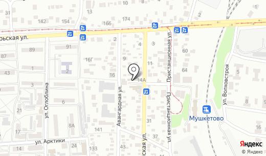 Цукерочка+. Схема проезда в Донецке