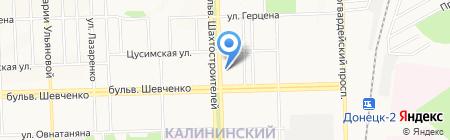 Детская музыкальная школа №4 на карте Донецка
