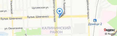 Моррис на карте Донецка