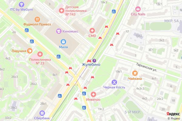 Ремонт телевизоров Метро Жулебино на яндекс карте