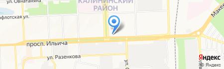 Люкс-Элит на карте Донецка