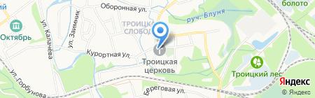 Свято-Троицкий Храм на карте Старого Оскола
