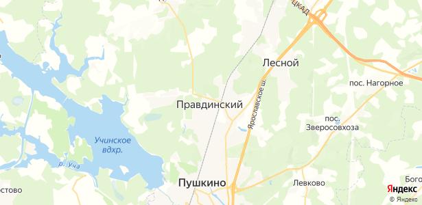 Правдинский на карте