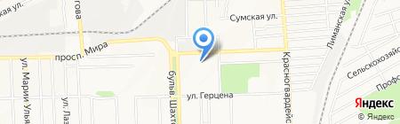 Принт-мастер на карте Донецка