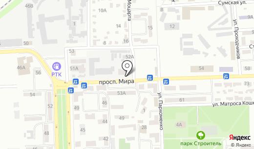 Ключ здоровья. Схема проезда в Донецке