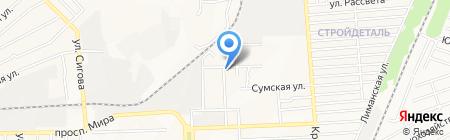 Соняшник на карте Донецка