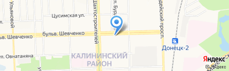 Город на ладони на карте Донецка