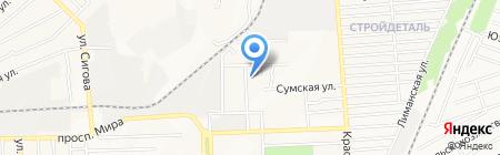 Бордо на карте Донецка