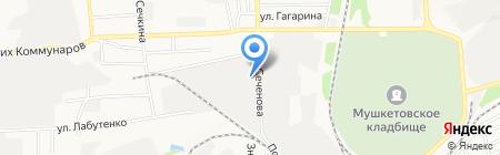 Аквос на карте Донецка