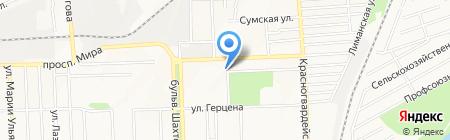 Дзерон на карте Донецка