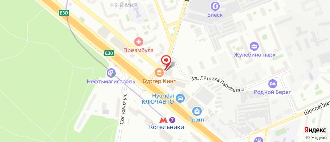 Карта расположения пункта доставки Люберцы Новорязанское в городе Люберцы
