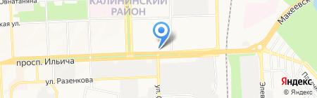 Нова на карте Донецка
