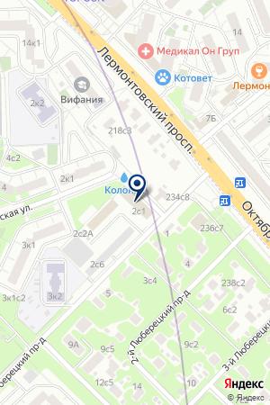 ОДЕРОВ А.М. на карте Москвы