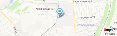 Донбасстрой на карте Донецка