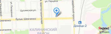 Банкомат Креди Агриколь Банк на карте Донецка