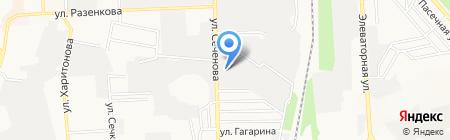 Леман-бетон на карте Донецка