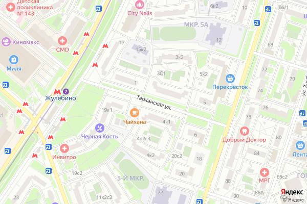 Ремонт телевизоров Улица Тарханская на яндекс карте