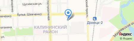 Люкс продуктовый магазин на карте Донецка